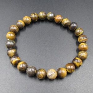 Vintage Stunning Brown Stone Expandable Bracelet